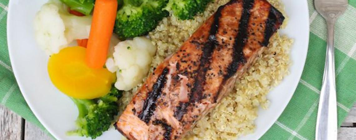 Maple-Glazed Grilled Salmon