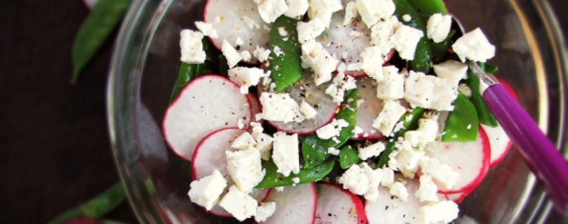 Fresh Pea and Radish Salad