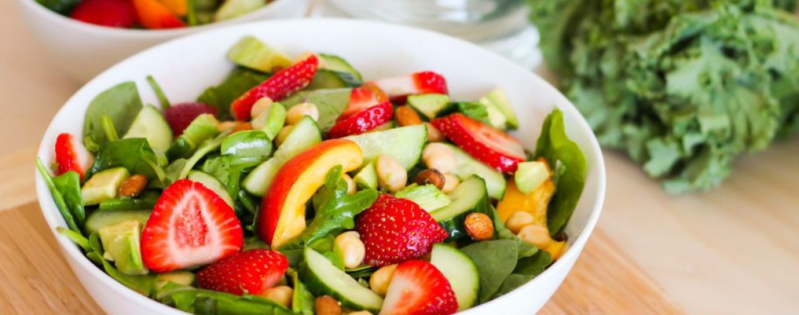 Peaches and Greens Salad