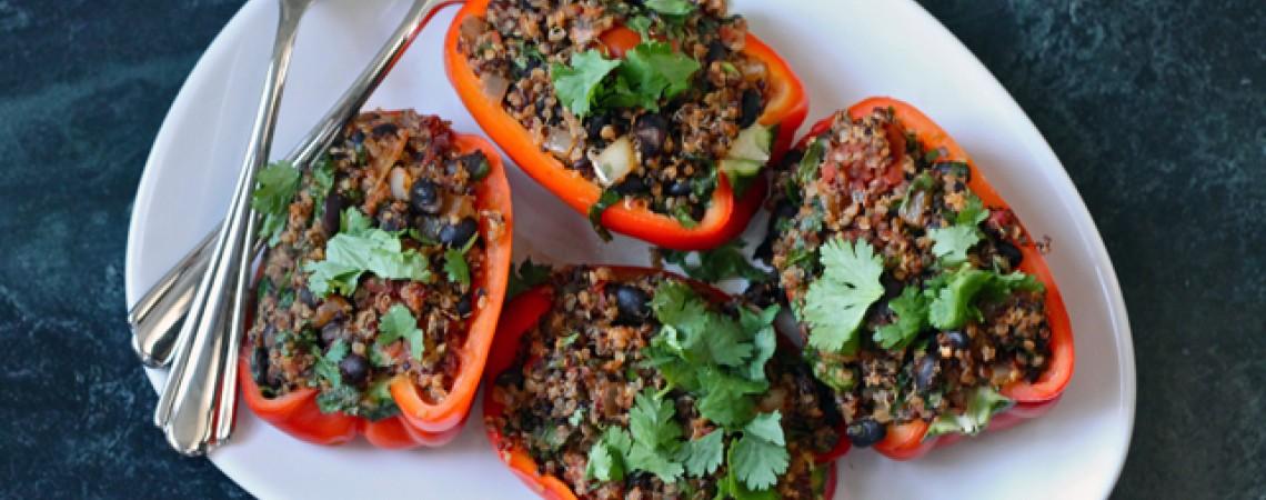 Vegan Quinoa-Stuffed Peppers