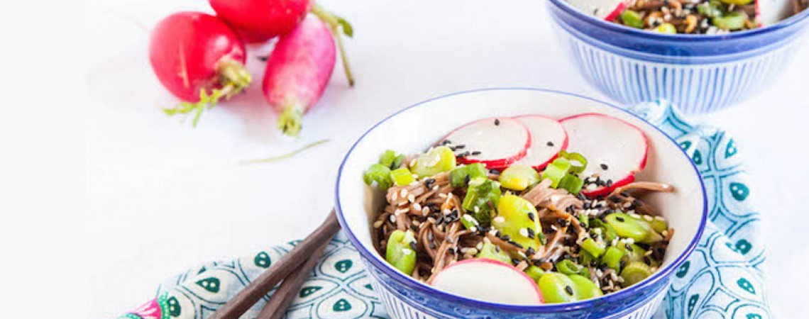 Vegan Spring Soba Noodle Bowl