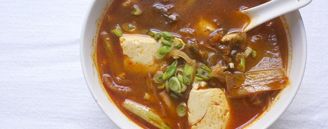 Simple Silken Tofu and Kimchi Soup