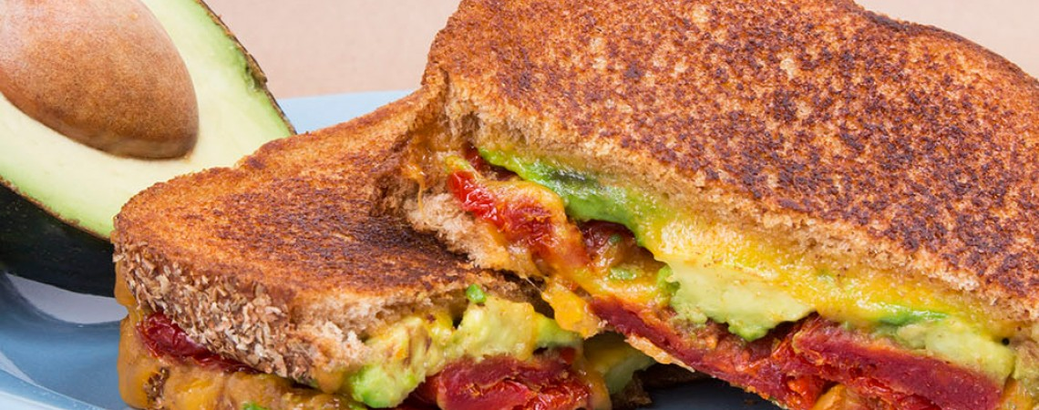 Sun-Dried Tomato and Avocado Grilled Cheese
