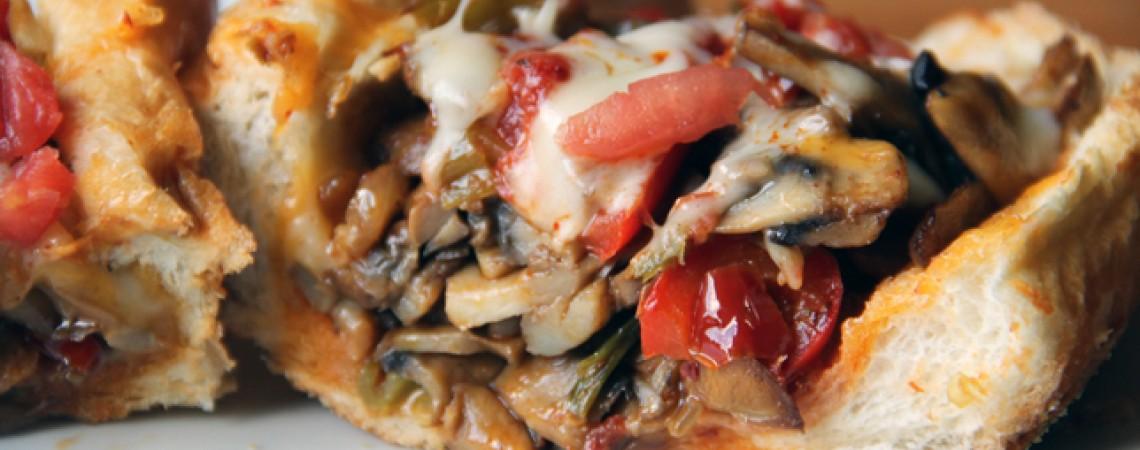 Vegetarian Cheesesteak Sandwich