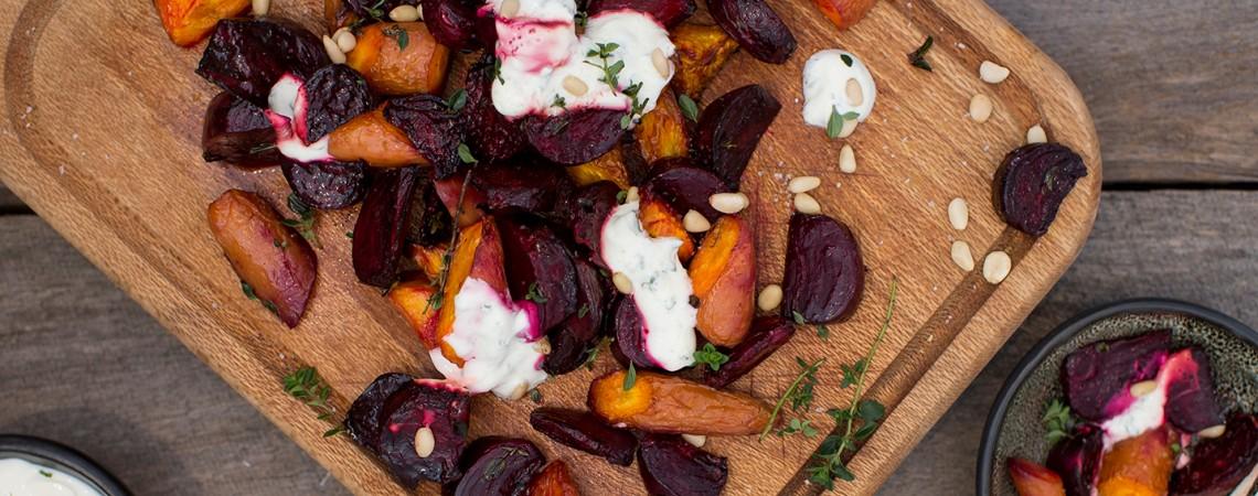 Beet and Carrot Salad With Mint Yogurt
