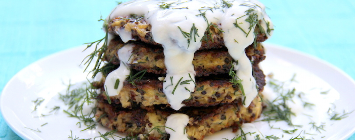 Healthier Zucchini Fritters