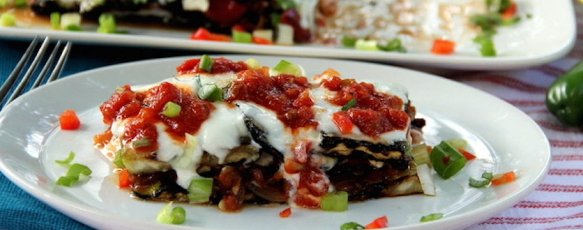 Grilled Lasagna With Caramelized Onions