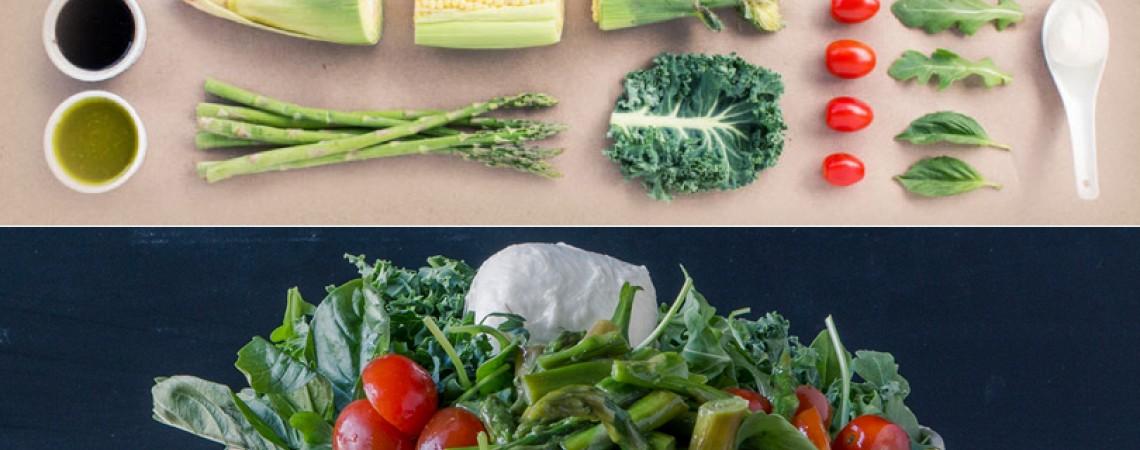 Shredded Kale and Arugula Salad With Pesto Vinaigrette