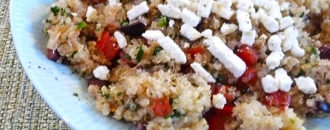 Warm Greek Quinoa Salad