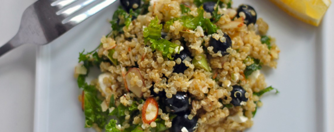 Blueberry, Kale, and Quinoa Salad