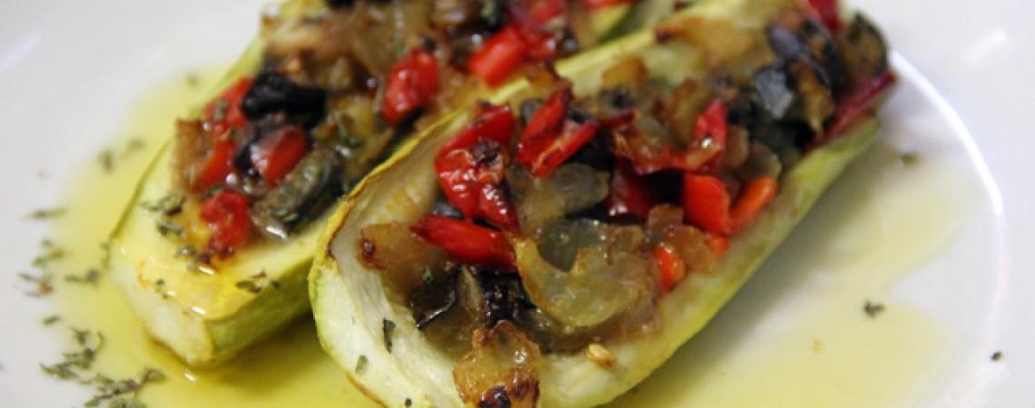 Veggie-Stuffed Zucchini