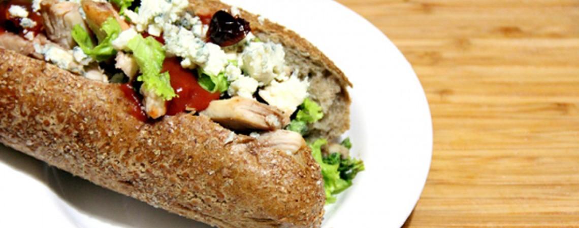 Turkey, Brie, and Cranberry Sandwich