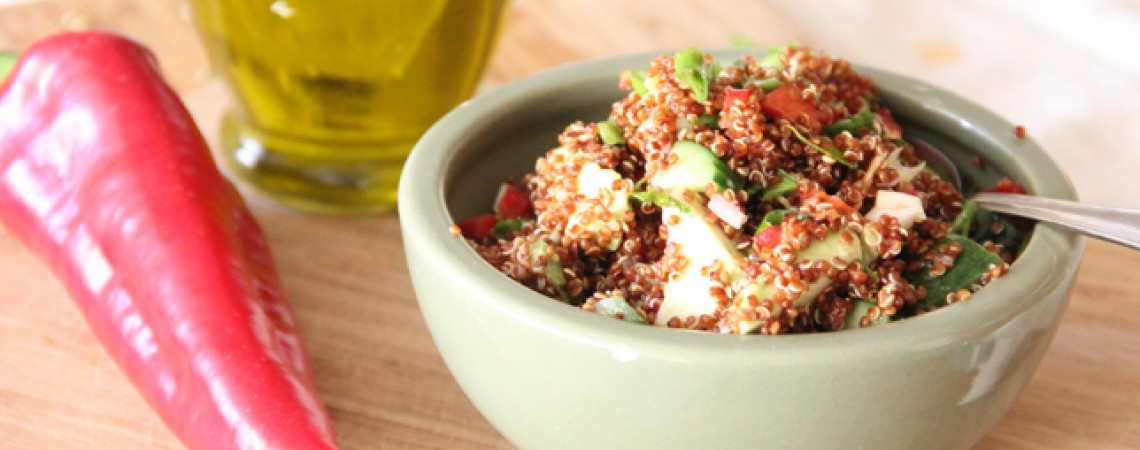 Ginger, Quinoa, and Veggie Salad