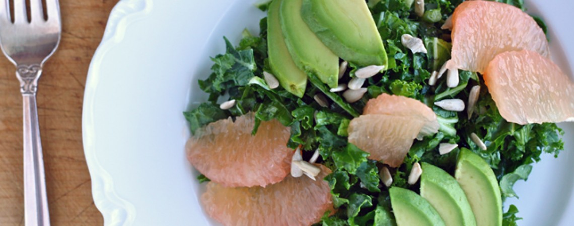 Shredded Kale Salad With Avocado and Grapefruit