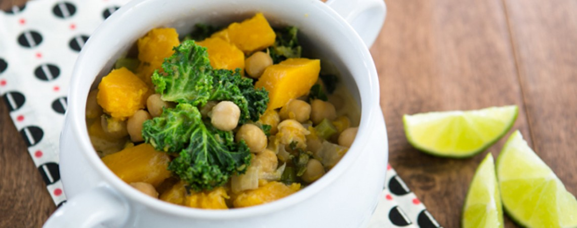 Butternut Squash, Chickpea, and Kale Curry
