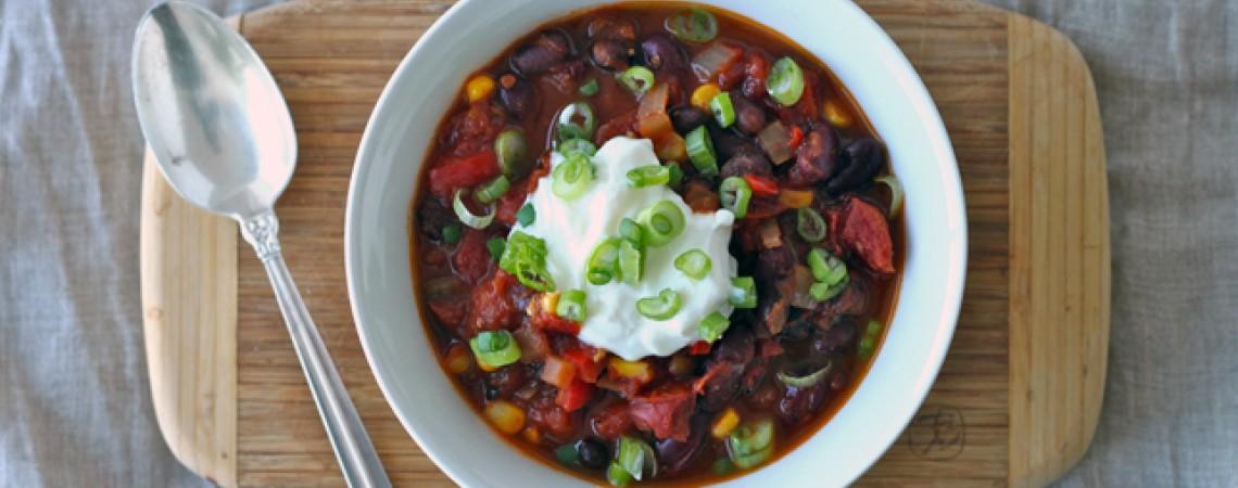 Quick and Easy Veggie Chili