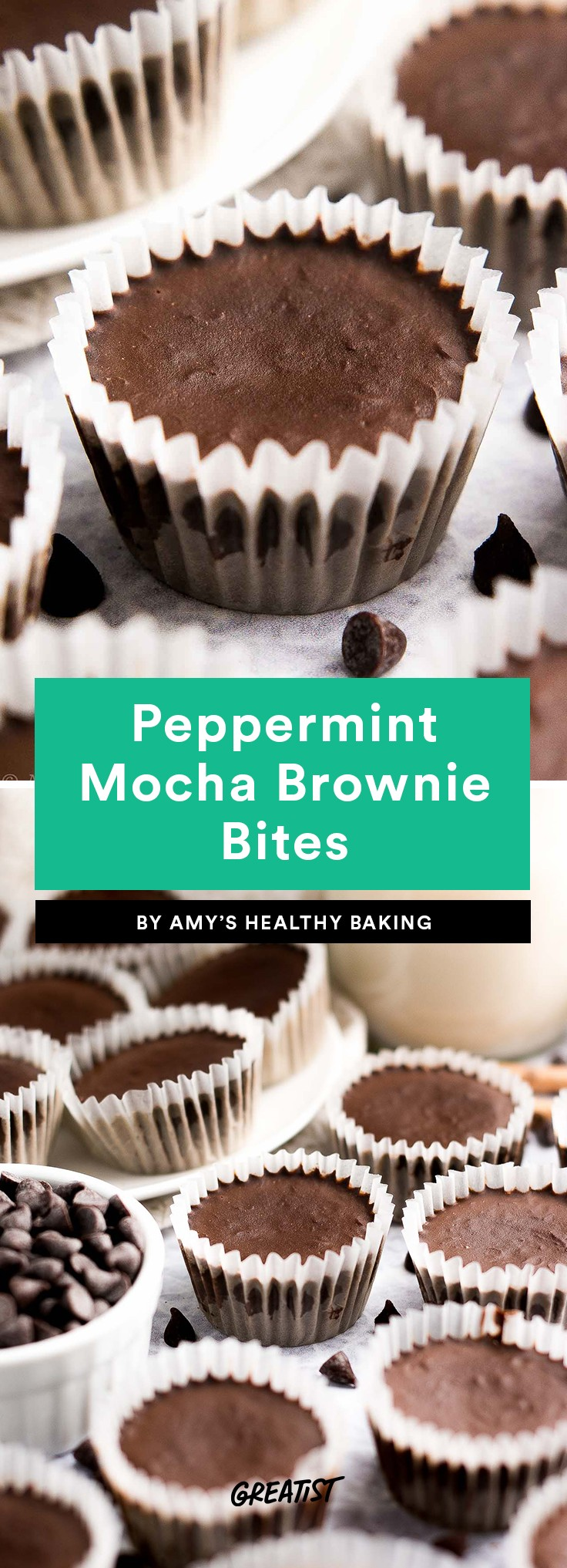 Peppermint Mocha Brownie Bites