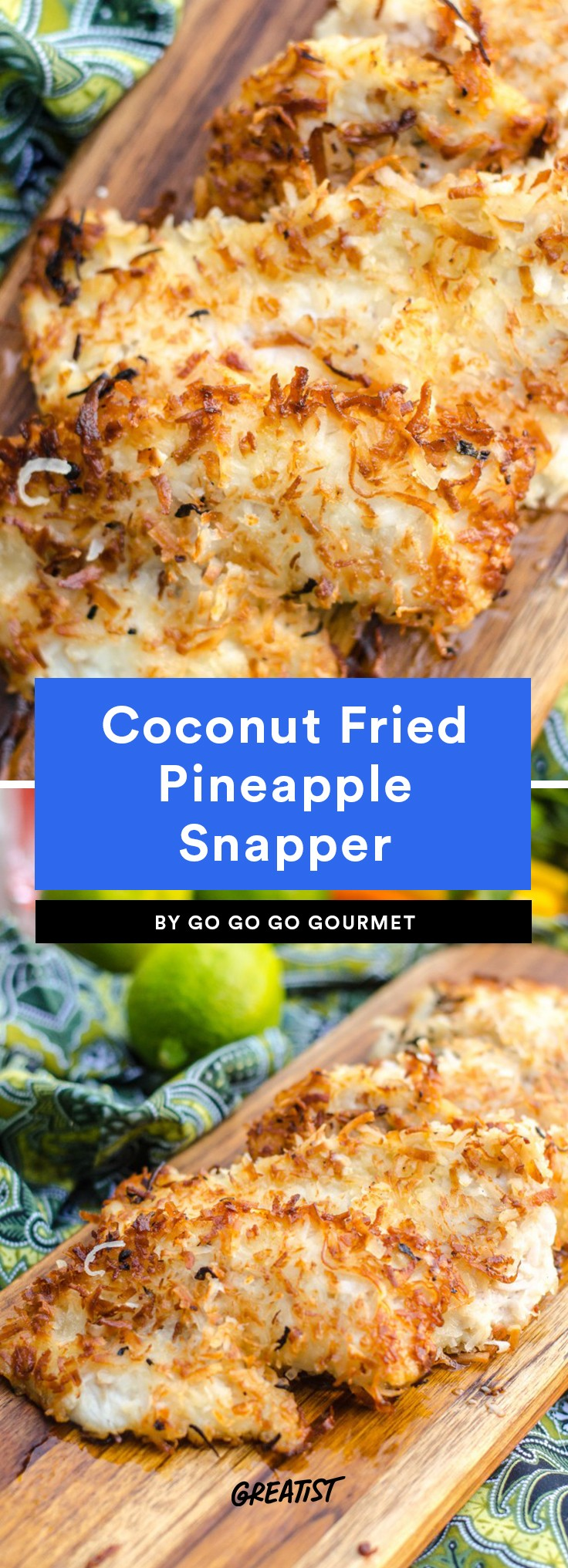 Coconut Fried Pineapple Snapper