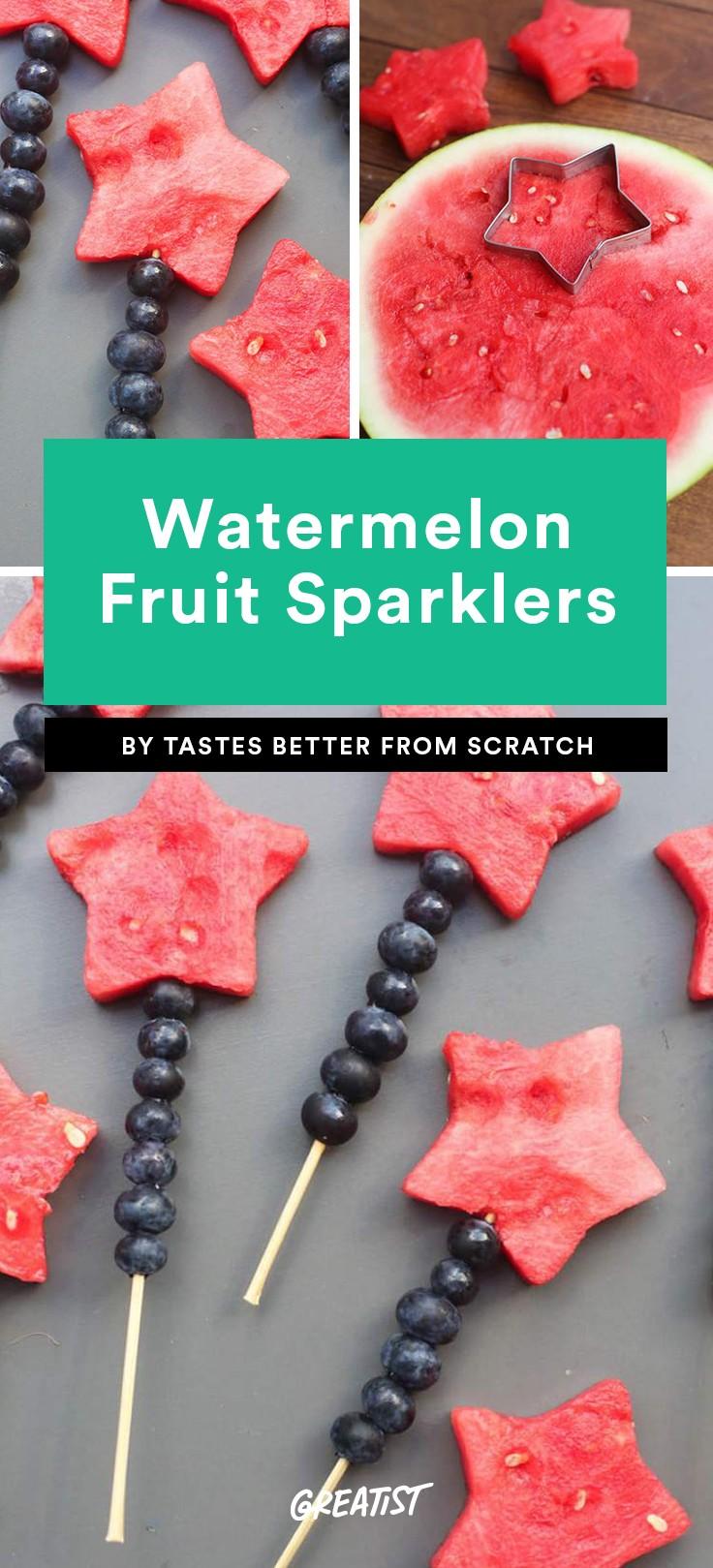 Watermelon Fruit Skewers