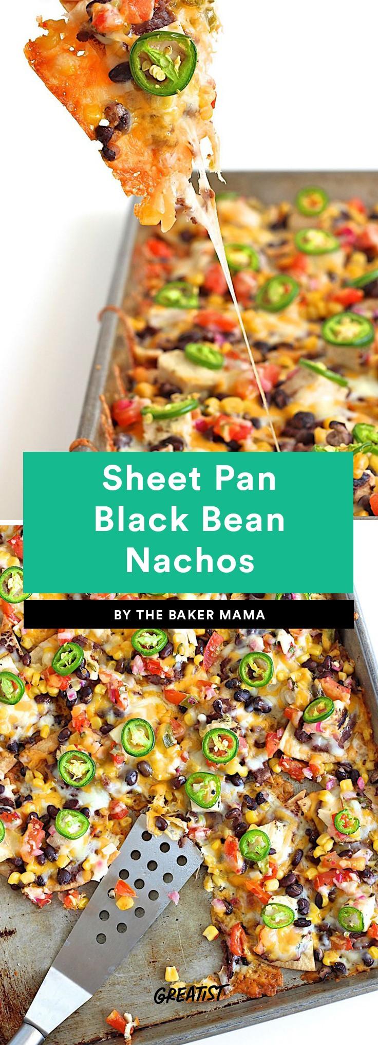 Sheet Pan Black Bean Nachos