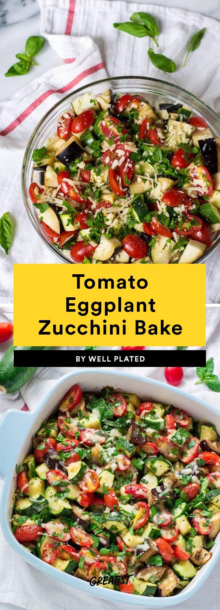 Tomato Eggplant Zucchini Bake Recipe