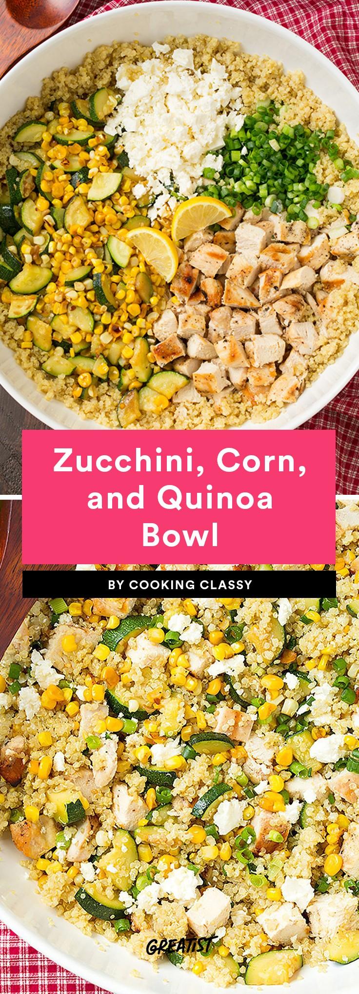 Zucchini, Corn, and Quinoa Bowl