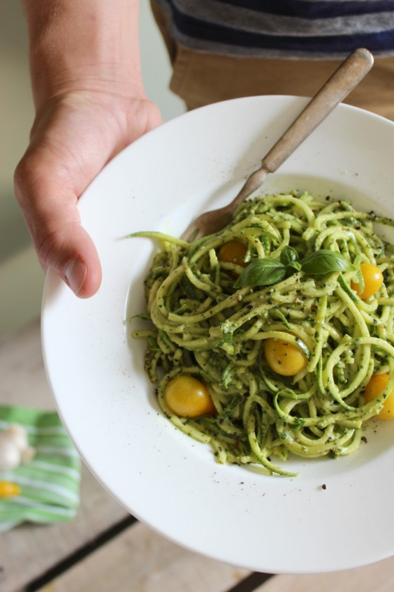 26. Zucchini Pasta With Vegan Cashew Basil Pesto