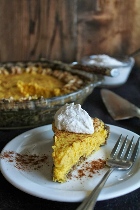 Veg Desserts: Raw Vegan Pumpkin Pie