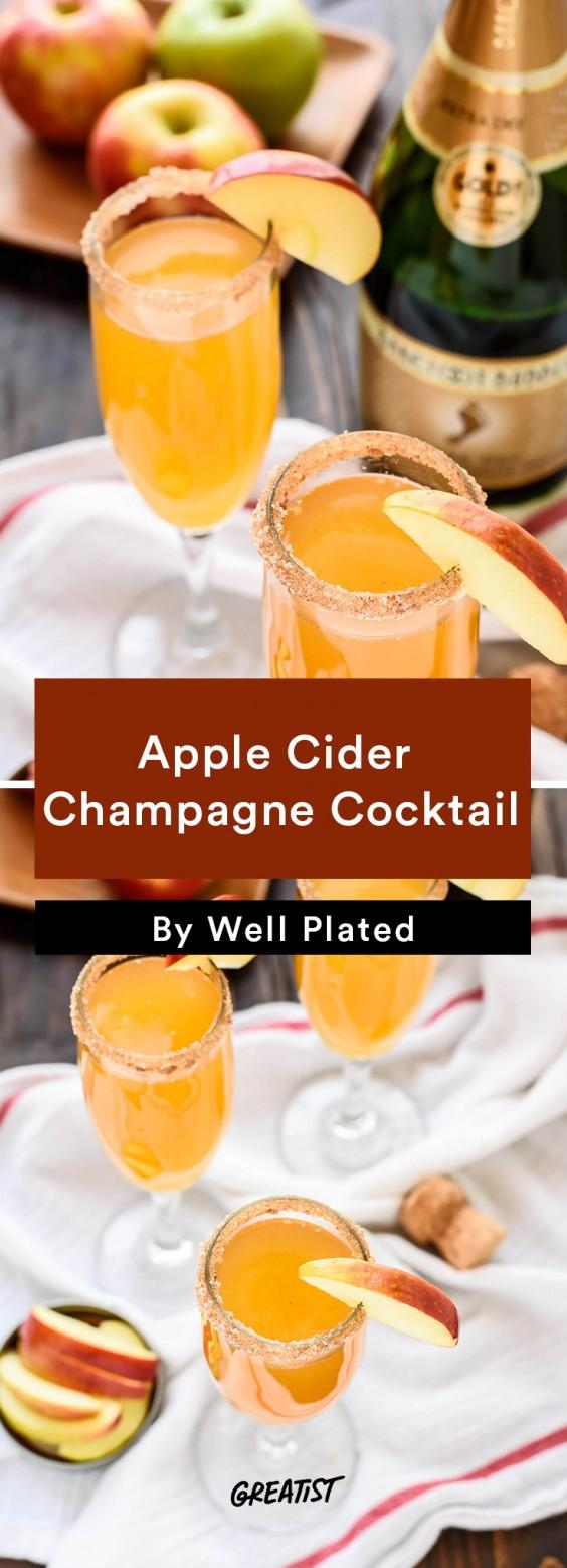 Apple Cider Champagne Cocktail Recipe