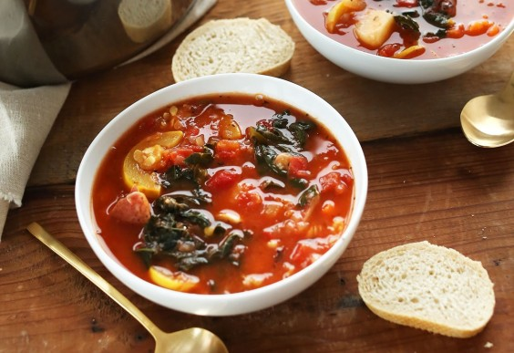 4. Tomato and Vegetable White Bean Soup