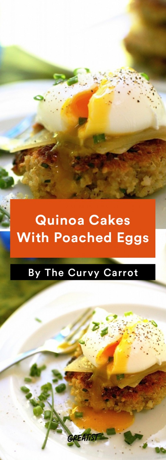 Breakfast for Dinner Recipes: Quinoa Cakes With Poached Eggs