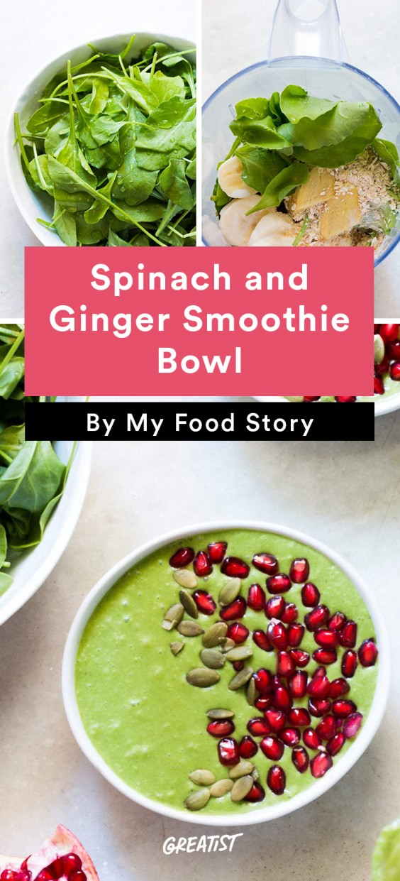Spinach and Ginger Smoothie Bowl