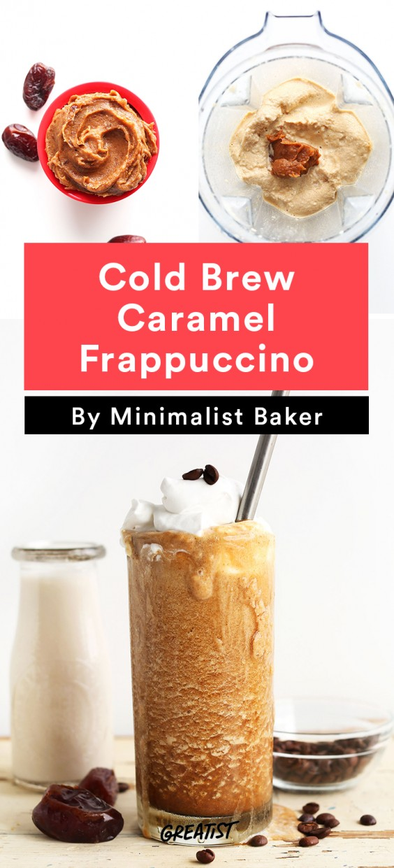 At Home Starbucks Recipes: Cold Brew Caramel Frappuccino
