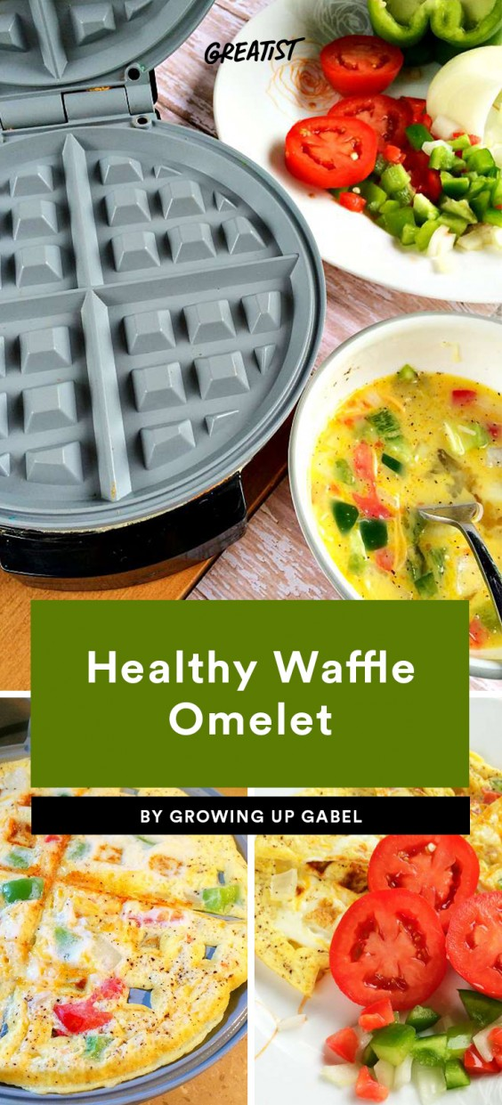 Healthy Waffle Omelet