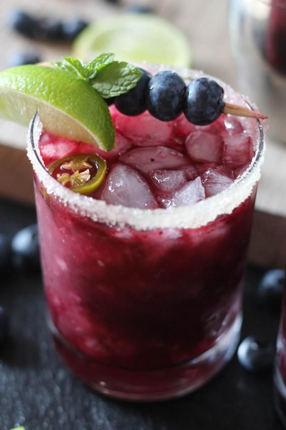 Paleo Recipes: Blueberry Jalapeño Margarita by PaleOMG