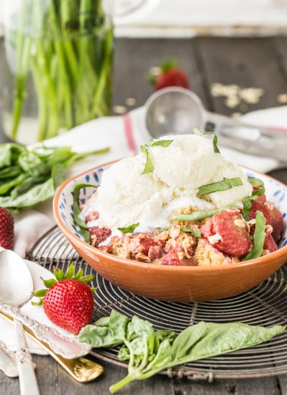 Strawberry Basil Cobbler