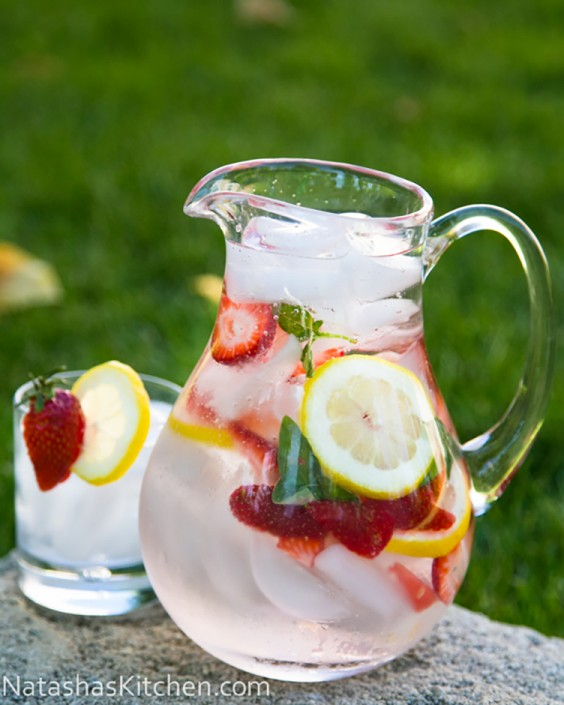 Fruit-Infused Water: Basil Water