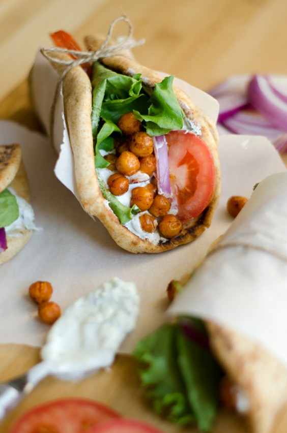 Lunch Ideas: Roasted Chickpea Gyro Wrap Recipes