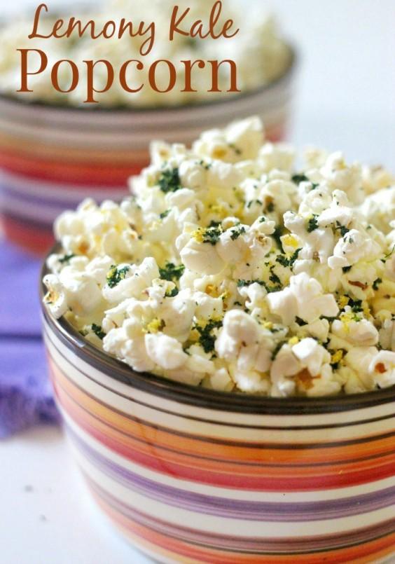 10. Lemony Kale Popcorn