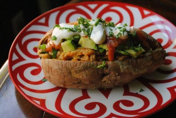 23. Egg-Stuffed Sweet Potatoes With Avocado