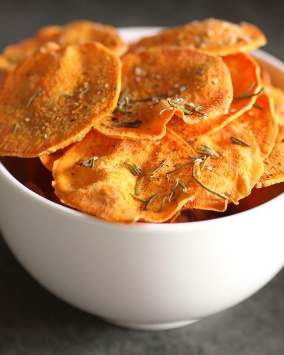 sweet potato chips microwave