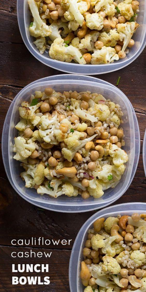 Healthy Lunch Ideas: Cauliflower Cashew Bowls