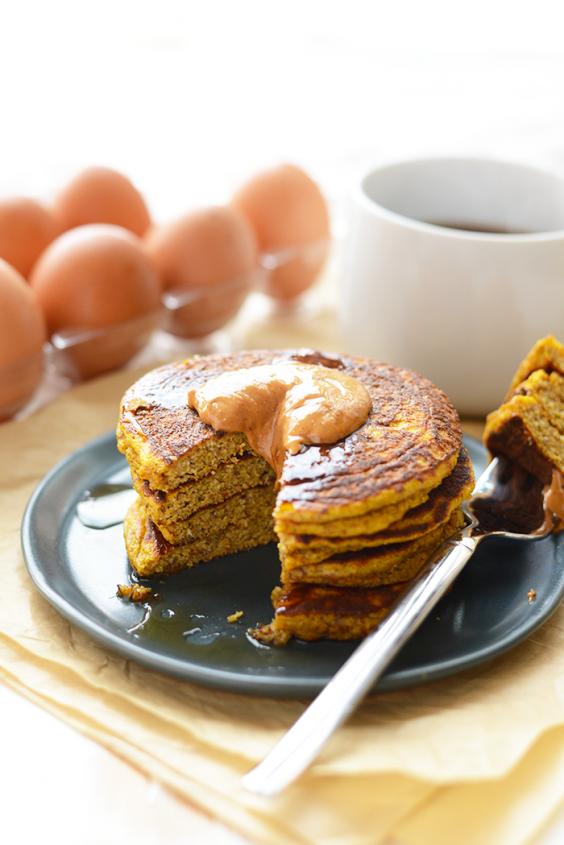 10. Paleo Pumpkin Pancakes