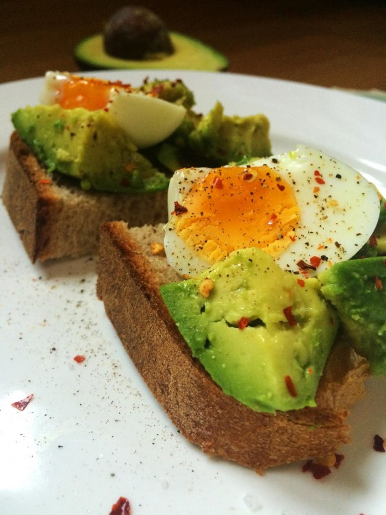 hard boiled egg avo toast