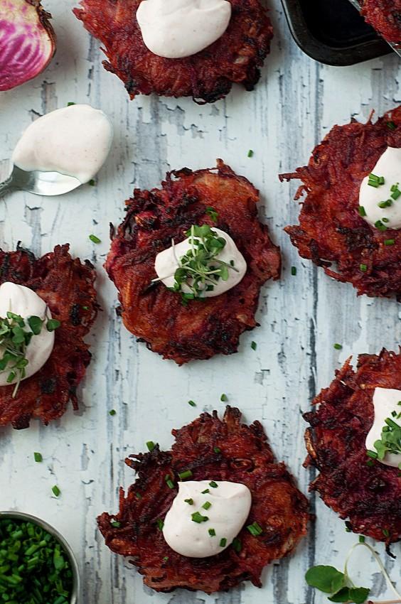 Potato Beet Latkes Recipe