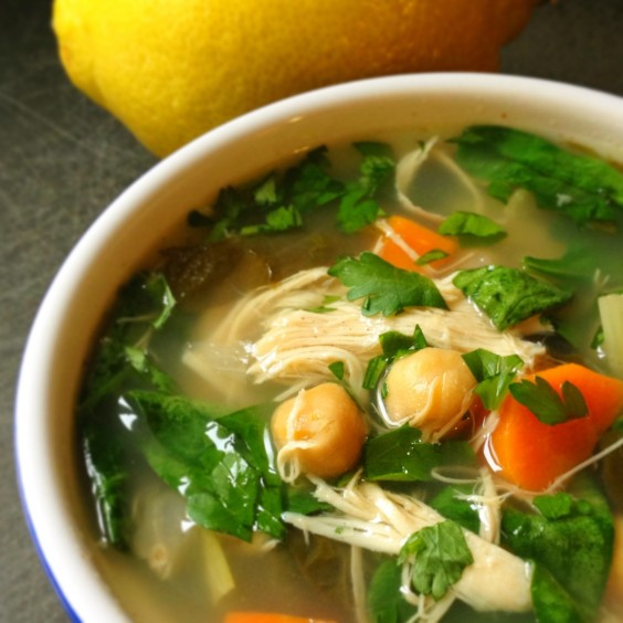 Greens Recipe: Lemony Chicken Soup With Greens
