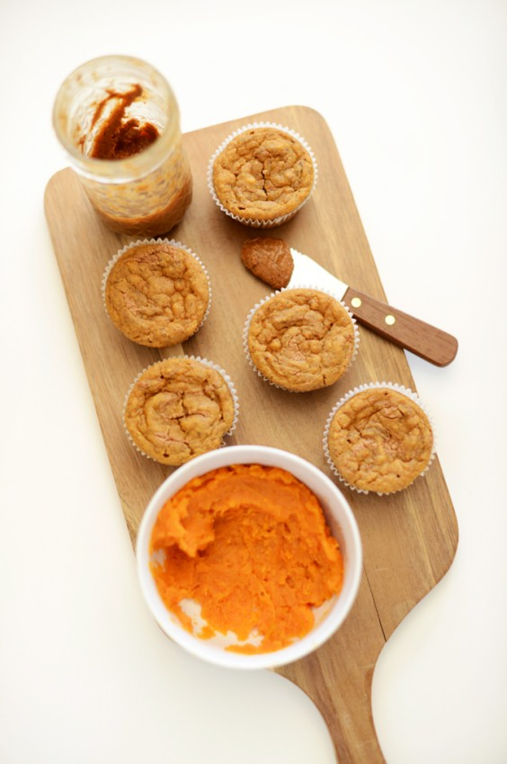 11. Sweet Potato Almond Butter Muffins