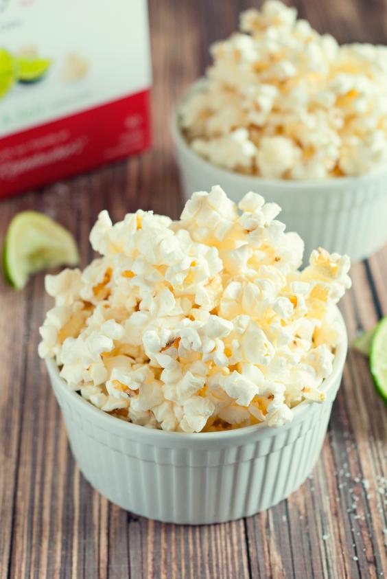 12. Spicy Cilantro Lime Popcorn