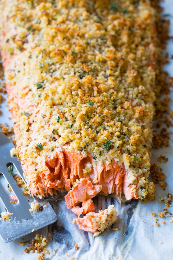 Low carb recipes dinners low in carbohydrates greatist low carb recipes oven baked salmon with parmesan herb crust forumfinder Images