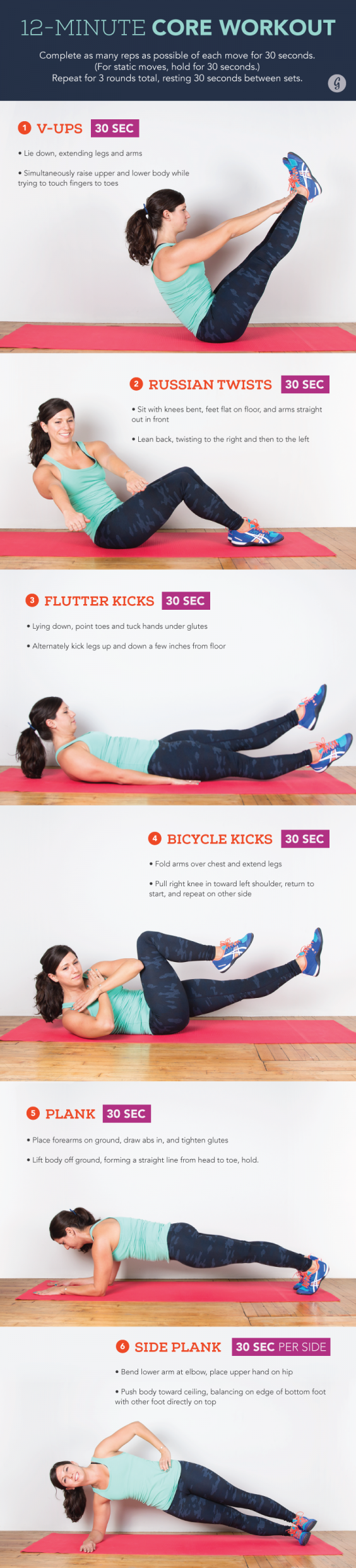 12 minutes core Workout
